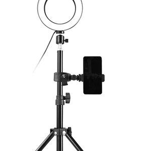 Image 5 - חצובות Selfie מקל עם טבעת למלא אור Dimmable טבעת Led מנורת סטודיו מצלמה טבעת אור תמונה טלפון וידאו אור מנורה