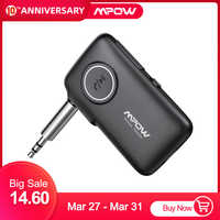 Mpow actualizado V5.0 Bluetooth receptor adaptador bluetooth para coche con 15H tiempo de reproducción para TV altavoz para auriculares juego Audio AUX coche BH298
