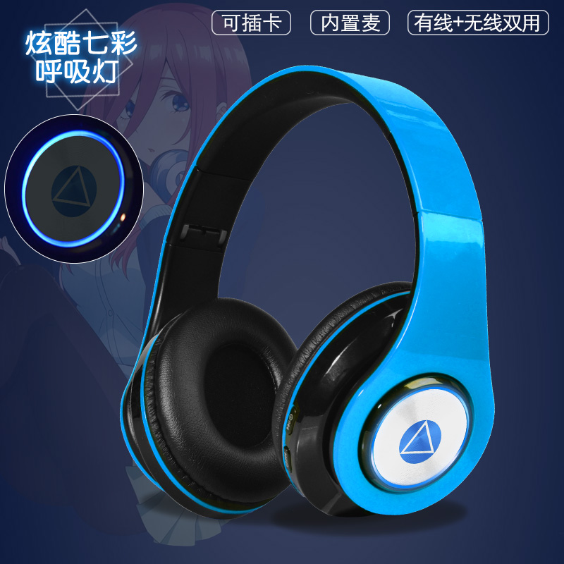 Anime The Quintessential Quintuplets Nakano Miku Wireless Bluetooth Headset Comfortable Stereo Foldable Gaming Headphones Gifts 3