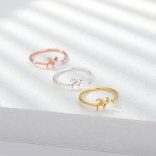 Милые a z кольца с буквами для женщин оригинальное кольцо из