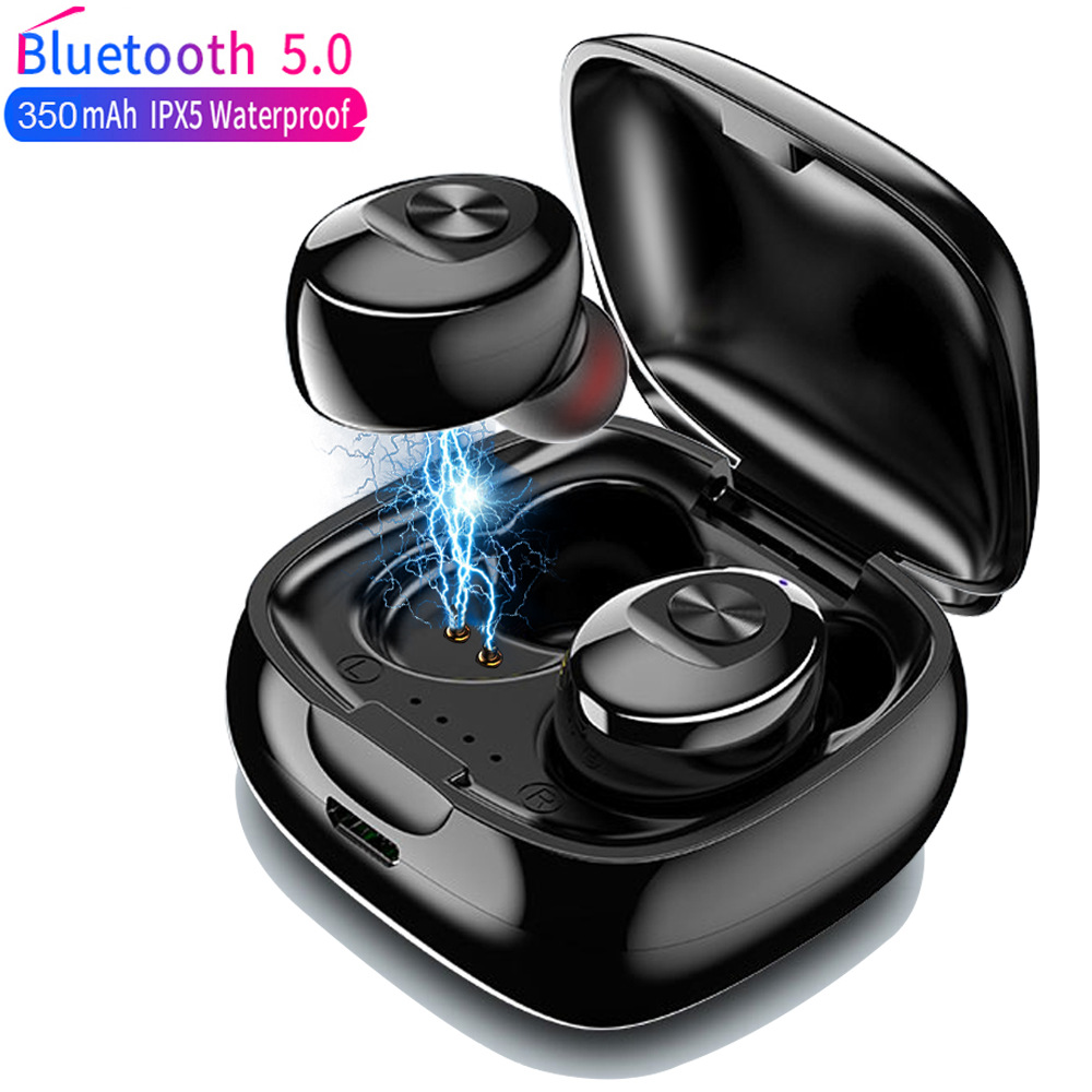 TWS Wireless Headphones 5 0 True Bluetooth Earbuds IPX5 Waterproof Sports Earpiece 3D Stereo Sound Earphones with Charging Box
