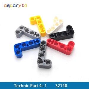 Aquaryta 10 шт. техническая часть 32140 строительные блоки толщиной 4 + 1 Т-образная рука Liftarm развивающие кирпичи креативный подарок для детей