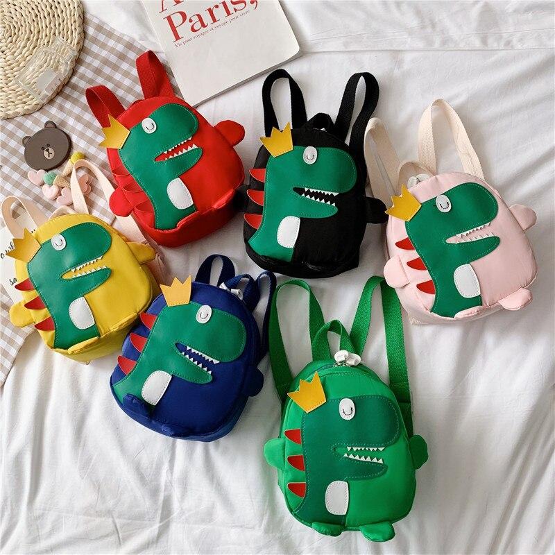 Cartoon Kindergarten Schoolbag Cartoon Dinosaur Children's Backpack Kids Boys Shoulder Bag For Children Backpack Girls