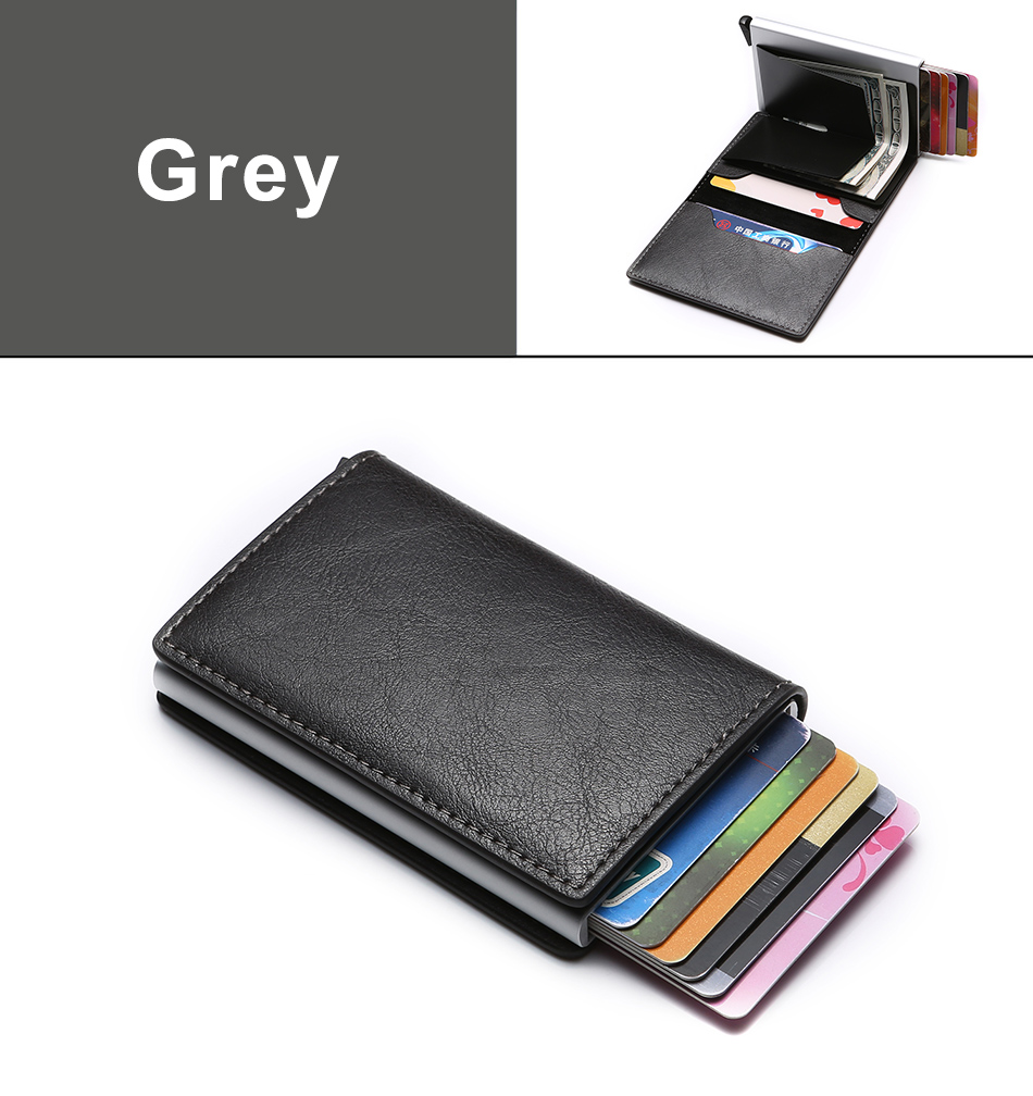 H1d348c36c16d4cc692d8ed4a14416eb4G - DIENQI Carbon Fiber Card Holder Wallets Men Brand Rfid Black Magic Trifold Leather Slim Mini Wallet Small Money Bag Male Purses
