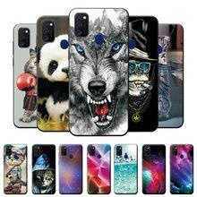 Чехол 6,4 дюйма для Samsung Galaxy M21, мягкий силиконовый чехол-накладка, сумки для Samsung M21, крутой Модный чехол-бампер для Samsung M21, M21, M 21