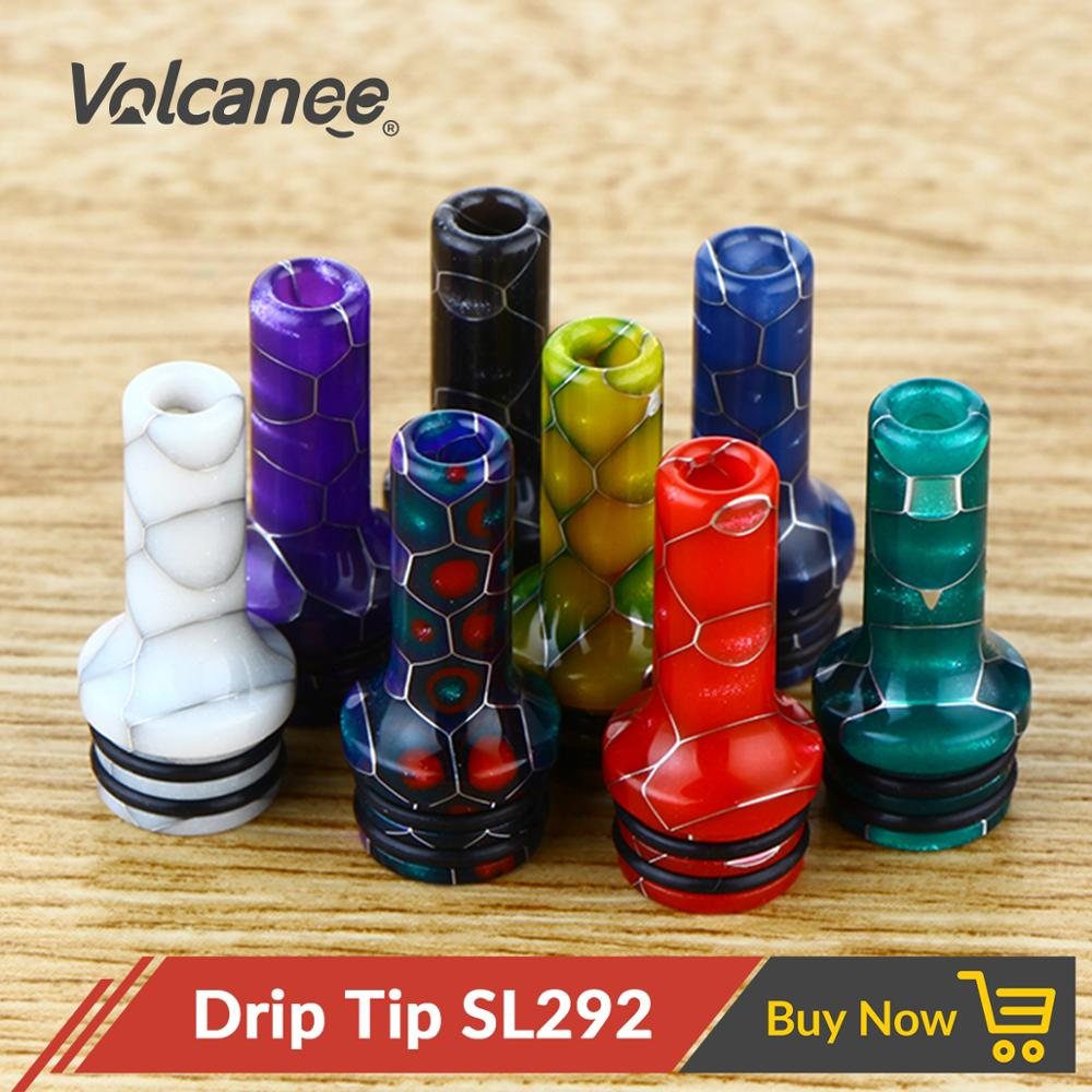 Volcanee Snake 510 Drip Tip 22mm Long 3mm Narrow Bore 510 MTL Drip Tip For RTA RDA RDA Tank Atomizer E Cig Accessories