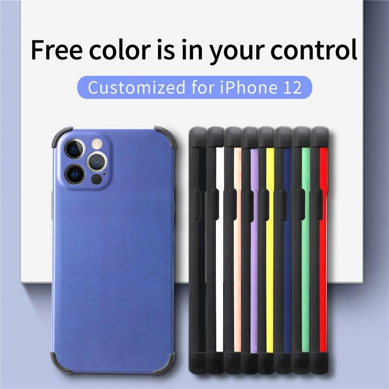 Простой мобильный телефон чехол для iPhone 11 Pro Max 12 мини XsMax XR Xs X 8, 7, 6s, 6Plus, SE2020 сплошной цвет противоударный мягкий чехол