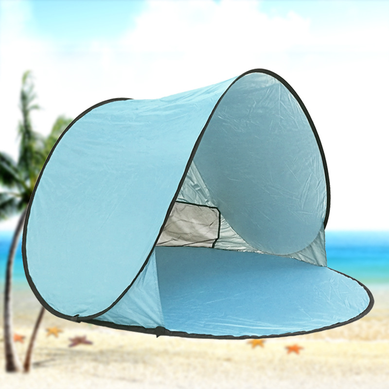 Outdoor UV protection automatic free set up speed open camping beach shade tent