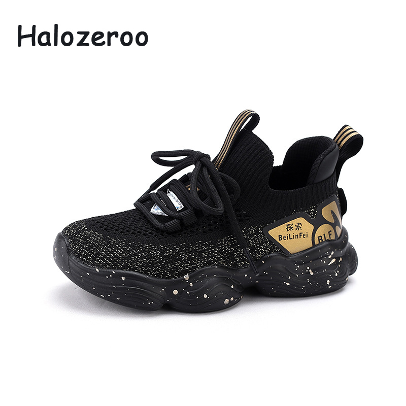 Spring Kids Sport Sneakers Baby Girls Slip On Casual Sneakers Boys Black Running Shoes Children Brand Chunky Sneakers Trainers