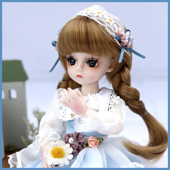 30CM 1/6 BJD Doll 18 Ball Joints SD Dolls With Full Outfits Dress Makeup Shoes DIY Dress UP Toys Doll Set For Girls Collection 1