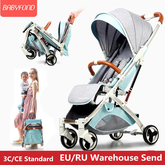 Aluminium Alloy Light Baby Stroller Good Quality 5.8kg Traveling Baby Carriage Newborn Boarding BB Car Free Gifts