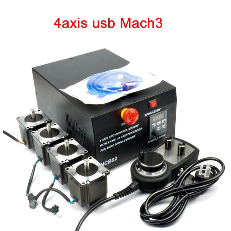 CNC Milling Engraving Router Control Box 4axis Usb Interface NCB02 Suit For Mach3 Software Diy
