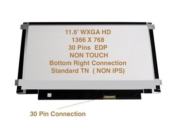 "For Dell Chromebook 11 11.6"" WXGA HD 1366x768 LED LCD Screen 30 Pin Matte 4RY6J, 04RY6J"