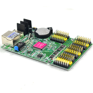Image 3 - HD E63 Ethernet Huidu P10 כפול צבע LED כרטיס תצוגת Led לתכנות סימן לוח בקר
