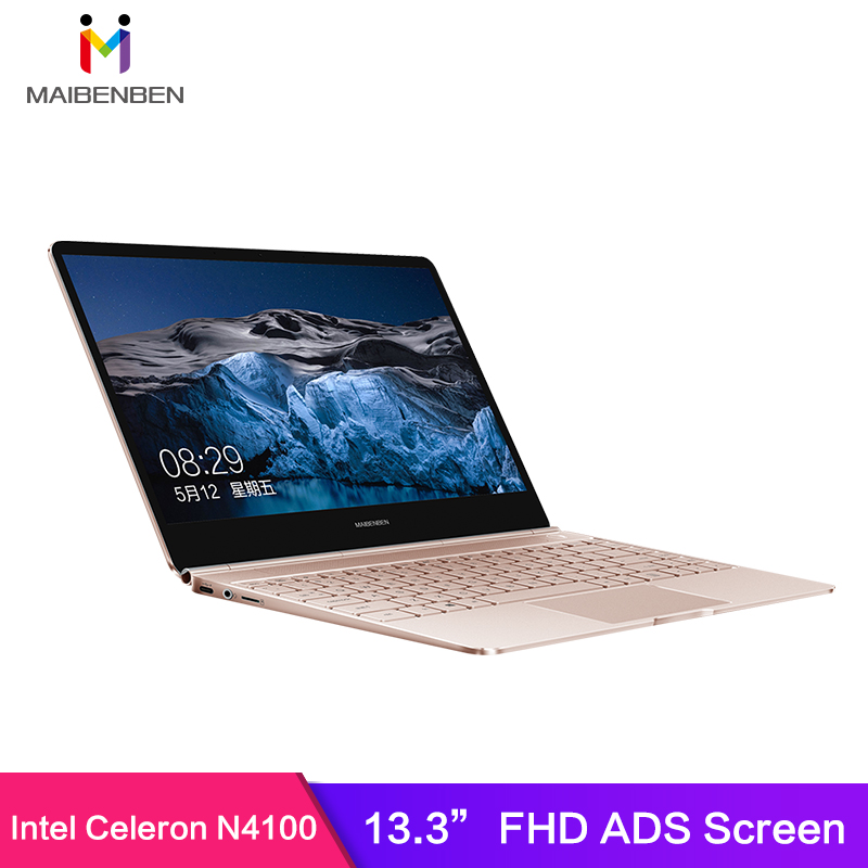 MAIBENBEN JinMai6 Laptop 13.3Inch Intel Gemini Lake N4100 8G RAM 240 SSD DOS FHD Screen