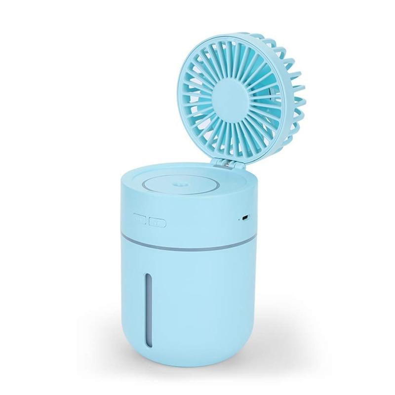 Ev Aletleri'ten Fanlar'de Mini Usb el nemlendirici Mist su sprey klima nemlendirici fanı taşınabilir yüz sprey buharlı nemlendirici Misting Fan  title=
