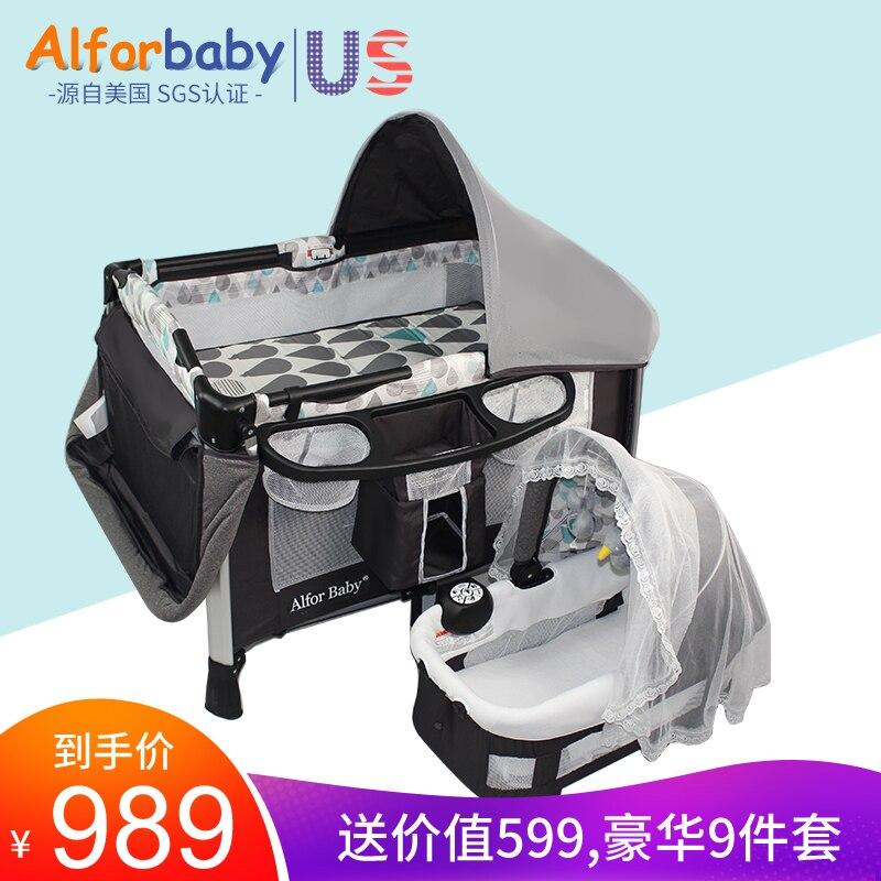 Newborn Crib Collapsible Portable European Multifunction Cradle Shaker Baby Bed Chlid Game Bed Sleeping Basket