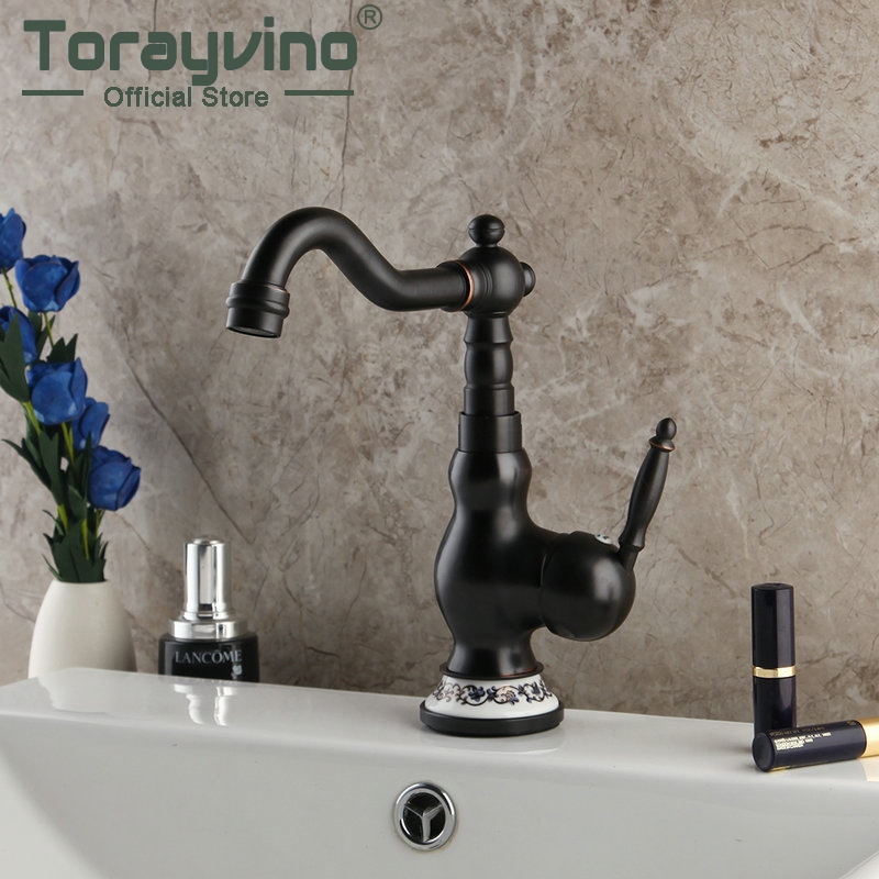 Orb Black Finish Kitchen Sink Swivel Faucet Mixer Taps Vanity Black Solid Brass Ceramic Base Faucet Mixer Tap Faucet Kitchen Faucets Aliexpress
