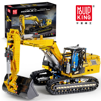 Lepining 20007 City Technic RC APP Motorized Excavator Truck Model Building Blocks MOC 8043 DIY Bricks Toys For Children Gifts