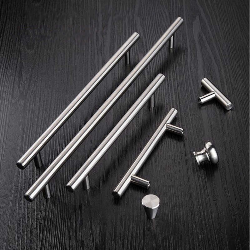 3pcs Furniture Handles 50mm-500mm Stainless Steel T Bar Handles for Furniture Cabinet Knobs and Handles Pull for Cupboard Door