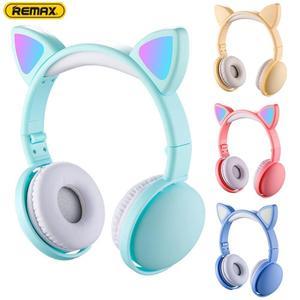 Светящиеся милые кошачьи наушники в форме ушей, беспроводные наушники для игр, трансляция в реальном времени, стерео музыкальные объемные н...