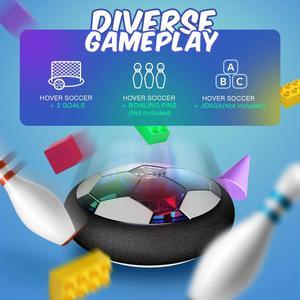 Image 4 - אוויר כוח רחף כדורגל כדור מקורה כדורגל צעצוע צבעוני מוסיקה אור מהבהב כדור צעצועי ילדים ספורט משחקים של ילד חינוכיים מתנה