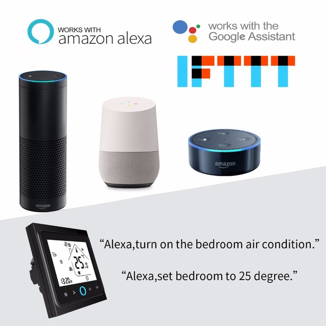 WiFi Smart Thermostat Temperature Controller for Water/Electric floor Heating Water/Gas Boiler Works with Alexa Google Home 2