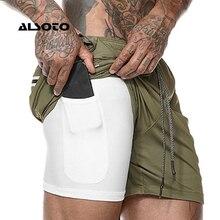 Лето бриджи шорты мужские одежда сухой бассейн Мужские повседневные шорты 2 в 1, шорты для бега, быстросохнущие спортивные шорты для спортзала, фитнеса, бодибилдинга, тренировки, встроенные карманы, короткие мужские