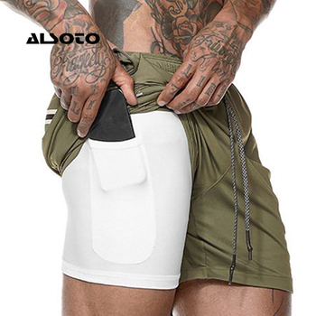 Men's Casual Shorts 2 in 1 Running Shorts  1