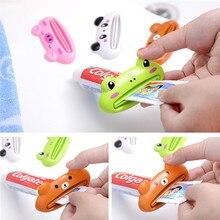 Casa tubo exprimidor fácil de dispensador de pasta de dientes de soporte cepillo de dientes titular de cocina cuarto de baño accesorios de decoración
