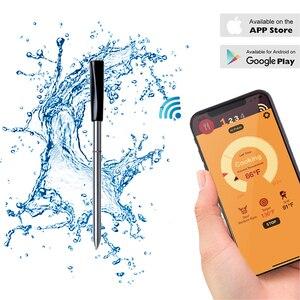 Image 1 - Mutfak fırın termometresi kablosuz akıllı barbekü et gıda pişirme biftek termometre Bluetooth açık barbekü hediyeler