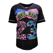 Baseball Jersey T-Shirt Street Short Men Pullover Tops Fresh Hip-Hop-Bel Prince Women3d-Print