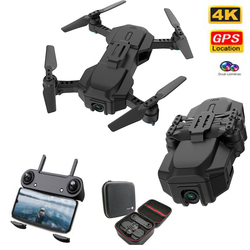 New Double GPS Drone 4K with HD Camera FPV WIFI Live RC Quadcopter Optical Flow Positioning Foldable Drone Helicopter
