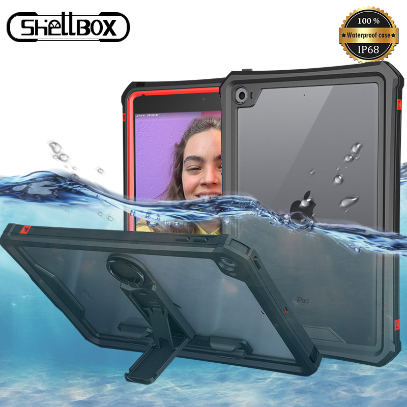 IP68 Waterproof IPad Case For Mini5 Thin Transparent Water Proof Shockproof Case Cover For IPad Mini 5 Outdoor Diving Swimming