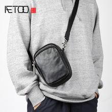 Мужская сумка через плечо aetoo Кожаная мини мессенджер повседневная