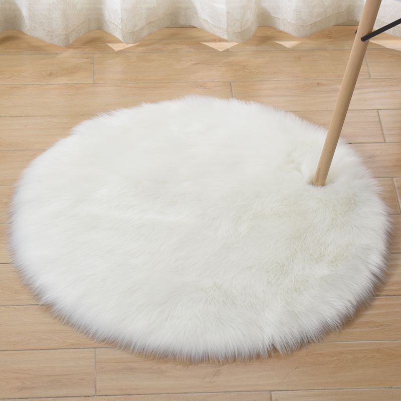 Circular Artificial Sheepskin Rug Chair Cover Bedroom Mat Artificial Wool Warm Hairy Carpet Seat Textil Fur Area Rugs