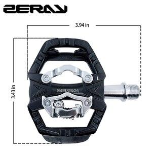 Image 3 - Zeray pedais mtb plataforma dupla auto bloqueio pedais de bicicleta de montanha compatível com spd bicicleta acessórios ZP 109S mtb pedais