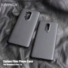 Amstar Carbon Fiber Protective Case for OnePlus 8 Pro 7 7T Pro Ultra Thin Anti Fall Anti Finger Real Carbon Fiber Cover Cases