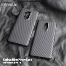 Amstar 탄소 섬유 보호 케이스 OnePlus 8 프로 7 7T 프로 울트라 얇은 안티 가을 안티 손가락 진짜 탄소 섬유 커버 케이스