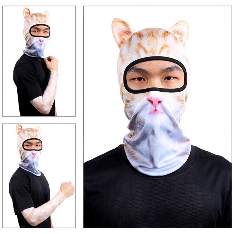 Hot 1 Pcs Thin 3D Animal Outdoor Cycling Ski Face Mask Neck Hood Full Face Mask Hat IE998