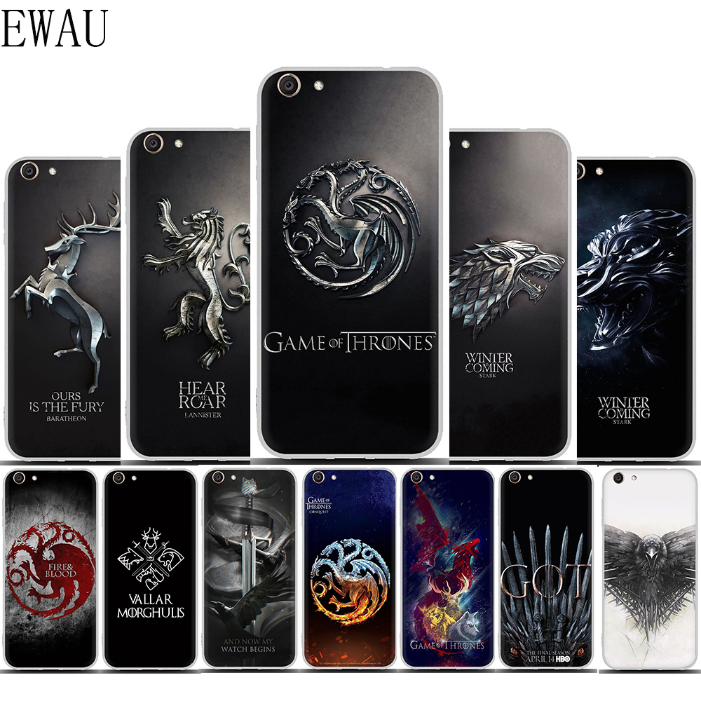 EWAU The game of the thrones phone <font><b>case</b></font> for <font><b>VIVO</b></font> <font><b>Y53</b></font> Y81 V7 V9 V11 V15 Pro Y17 Y71 Y91 Y93 Y66 X9 Y11 image