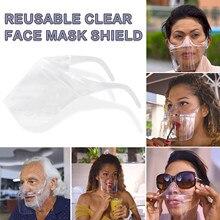1/2/3PC Transparent Face Shield Durable Mask Windproof Face Shield Combine Plastic Reusable Dustproof Clear Face Mask Mascarilla