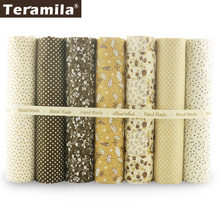 New Arrivals 7pcs/ Lot Cotton Plain Fabric Flower Design Quilting for Doll's DIY Toys Art Work Patchwork Sewing Quilting