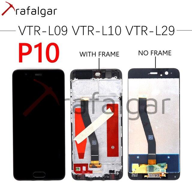 Für Huawei P10 LCD Display Touchscreen Digitizer Montage VTR L09 VTR L10 VTR L29 Display Für Huawei P10 LCD Mit Rahmen Ersetzen