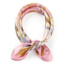 100% Silk Scarf Square Print Handkerchief Neck for Women Girls Professional Wind Ladies Favor