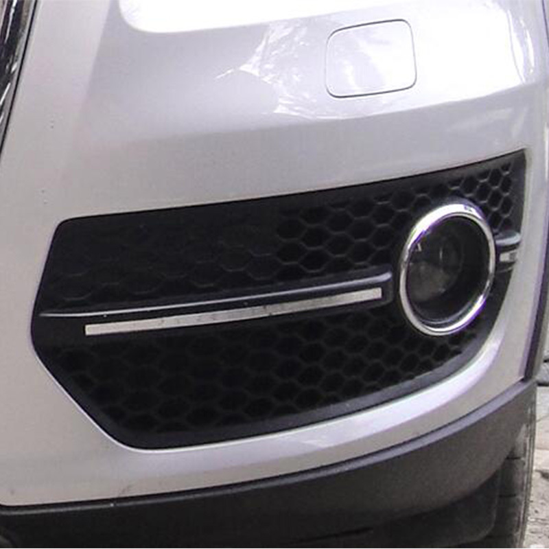 Q5 Rsq5 Style Black Front Fog Lamp Mask Grill Cover For Audi Q5