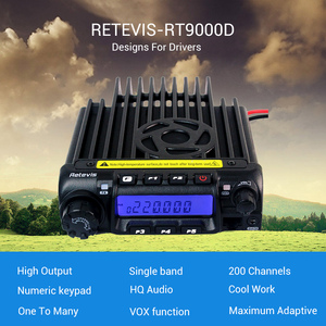 Image 2 - Retevis RT 9000D Mobile Car Radio Transceiver VHF 66 88MHz (or UHF) 60W 200CH Scrambler Walkie Talkie+Speaker MIC+Program Cable