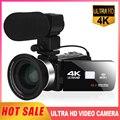 KOMERY 4K видео Камера 48MP 18X цифровой зум Камера s видео для Камера для YouTube 3,0 дюймов 270 градусов видеокамера с экраном