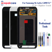 Original LCD Screen For Samsung Galaxy S6 active LCD G890 G890A Display Touch Screen Digitizer Assembly Replacement