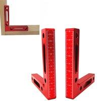 Regla de medición de precisión de ángulo recto de aluminio de L 120mm  herramienta de bricolaje con regla de altura cuadrada de posicionamiento de abrazadera de 90 grados|Juegos de herramientas manuales| |  -